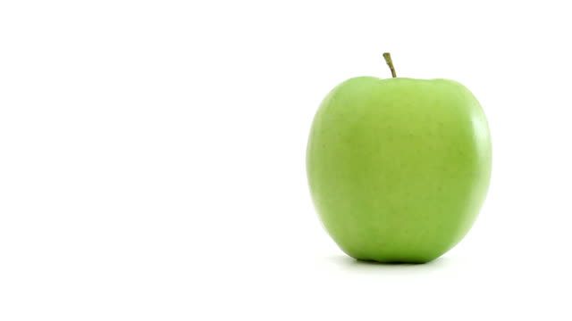 Green healthy apple video