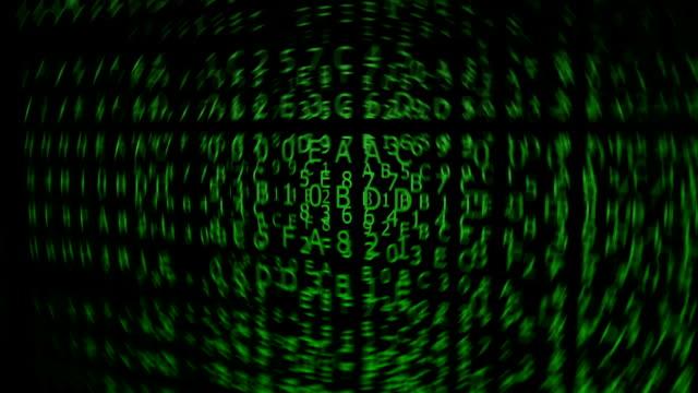 Green Hexadecimal Codes, blurred video