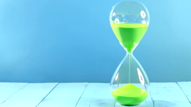 SERIES: Green hourglass timelapse video