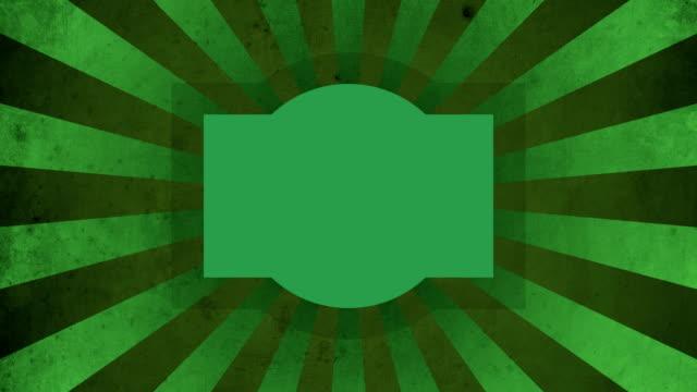 Green Label Vintage Loop Background 4K video
