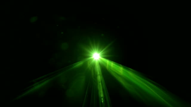 Green Laser Light Scanning Through Camera On Black Background In 4K Resolution Green laser light scanning through camera on black background. 4K resolution. laser stock videos & royalty-free footage