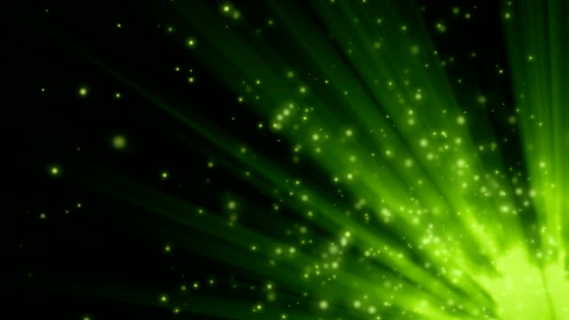 Green lights and particles video