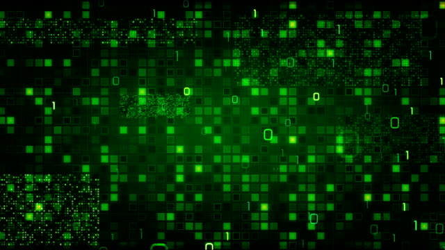 green loopable information technology background binary symbols zeros and ones video