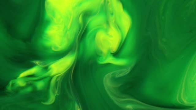 Green Magical Ink Clouds video