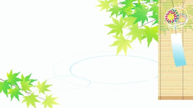 グリーンメープルと風鈴夏の挨拶ビデオ - 七夕点の映像素材/bロール