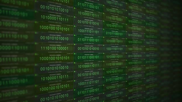 green modern software application binary code processing commands alt - google стоковые видео и кадры b-roll