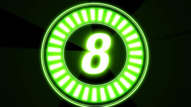 Green Neon 10sec Count Down