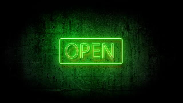 Néon vert ouvert - Vidéo