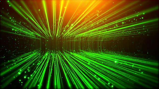 Green Particals Rain Up Flow