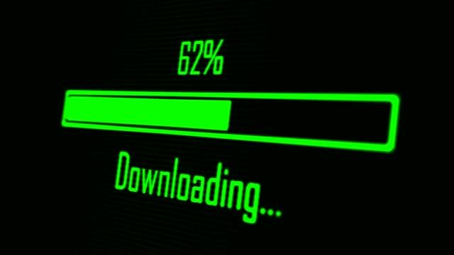Green progress bar - downloading Green progress bar - downloading progress bar stock videos & royalty-free footage