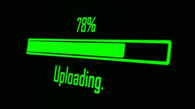 Green progress bar - uploading Green progress bar - uploading progress bar stock videos & royalty-free footage