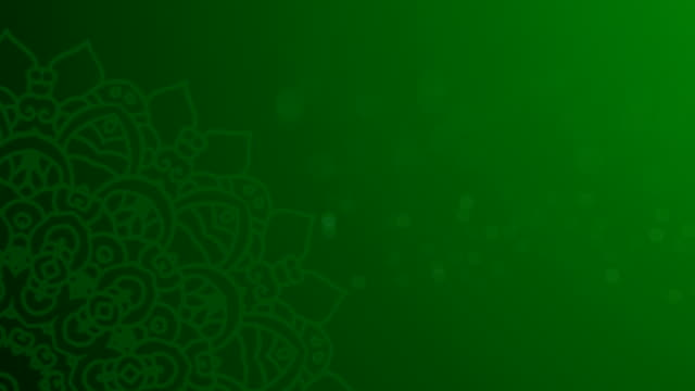 green ramadhan background - ramadan stock videos and b-roll footage