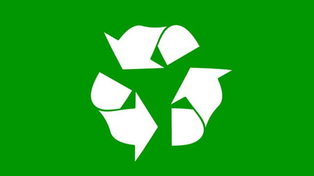 zielony znak recykling - odzyskiwanie i przetwarzanie surowców wtórnych filmów i materiałów b-roll