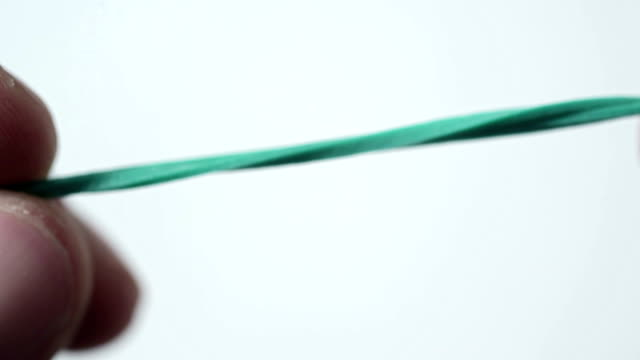 green rubber band video