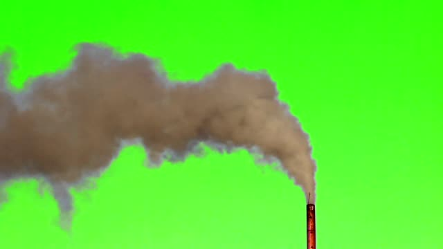 Green screen ,Air Pollution from a smoke of industrial plant video