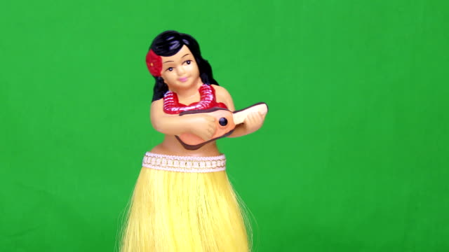 Green Screen Hula Girl Doll video
