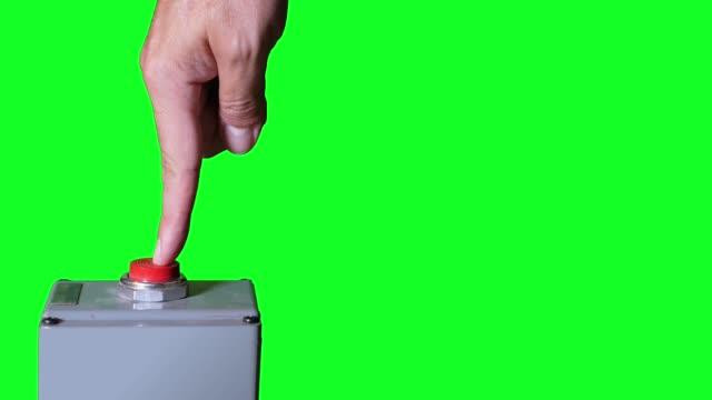 Green Screen Industrial Button Push