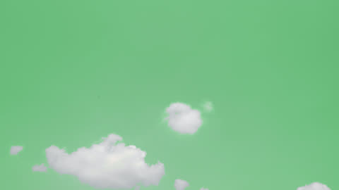 vídeos y material grabado en eventos de stock de pantalla verde de nubes blancas en movimiento con resolución 4k. - verde color
