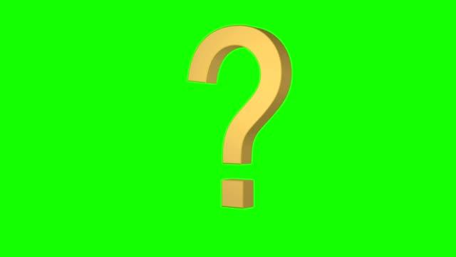 green screen question mark loop rotating ? - question mark video stock e b–roll