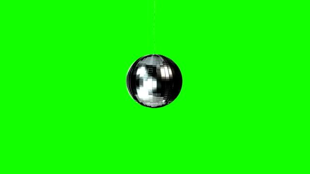 grön skärm snurrande disco ball - inkluderar alfa matt - dansbana bildbanksvideor och videomaterial från bakom kulisserna