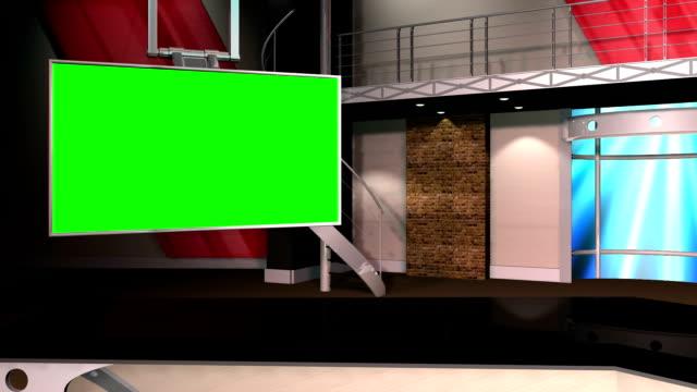 Green Screen Virtual News Studio 12 Template - Left Angle video
