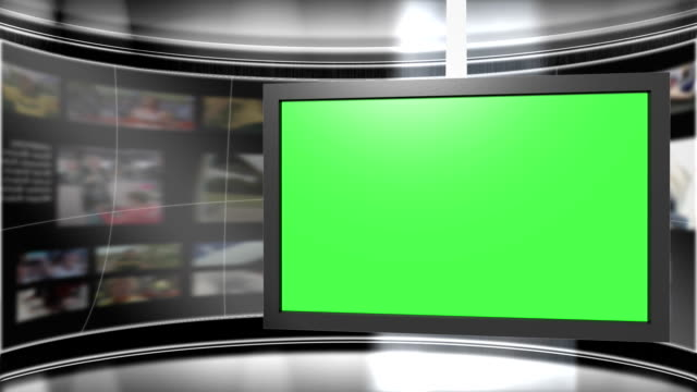 Green Screen Virtual News Studio 2 Template video