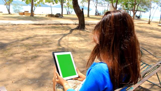 Green Screen with beautiful asian girl video