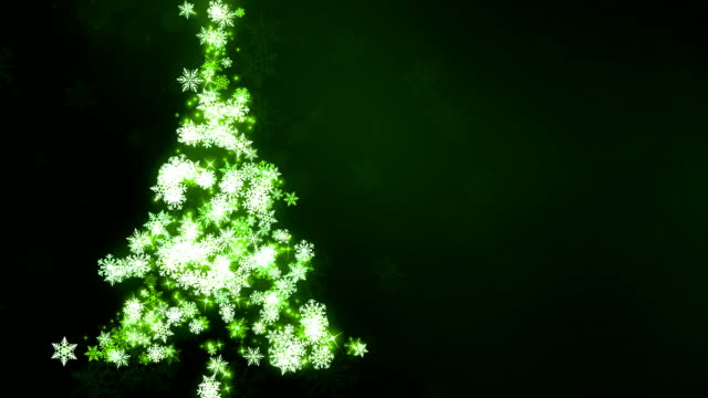 Green Snow Flake Christmas Tree Glowing SnowFlakes Christmas Tree background animation suited for broadcast, commercials and presentations. It can be used in Celebration, Party,christmas,holidays and Fashion or New Year animations. {{asset.href}} stock videos & royalty-free footage