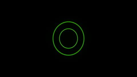 stockvideo's en b-roll-footage met green sonar circle loop with matte - cirkel