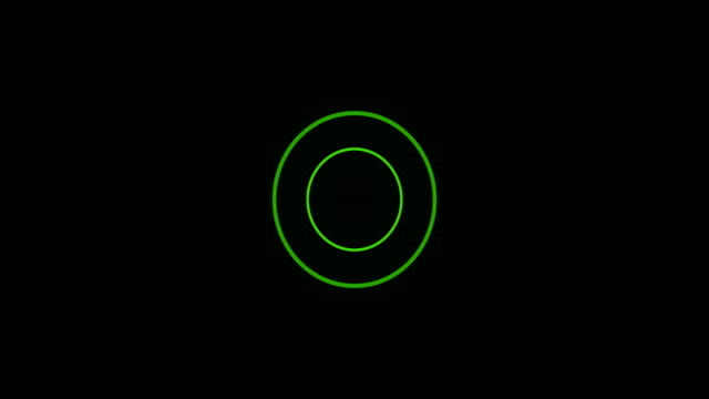 Green Sonar Circle Loop with Matte Green Sonar Beacon Loop with Matte wave pattern stock videos & royalty-free footage