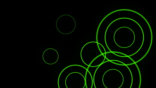 Green Sonar Circle Loop with Matte video