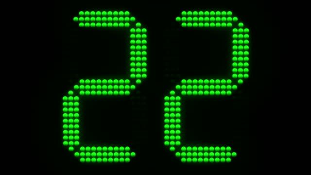 vidéos et rushes de vert de sport chronomètre compte à rebours de 30. - chrono sport