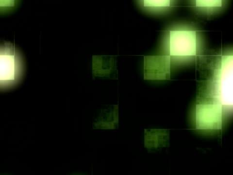 green square tech background. - 描述 個影片檔及 b 捲影像
