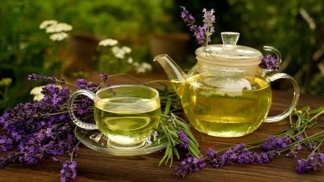 green tea in a beautiful cup video