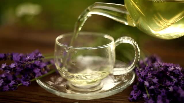 green tea in  beautiful cup video