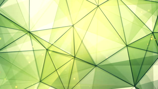 green triangles and lines pattern seamless loop video
