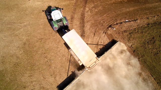 A green truck doing the agriliming video