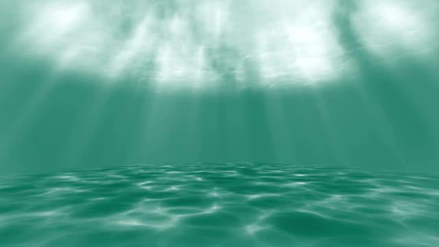 4kグリーン - 水中アニメーション - 海洋生物点の映像素材/bロール