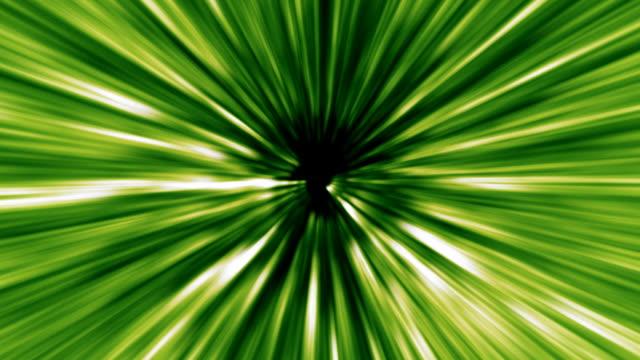 Green Warped Light beams loop video