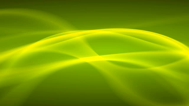 Green Waves Abstract Lines Background Looping video