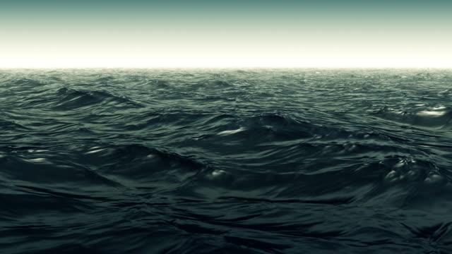 Yeşil dalgalı okyanus sahne video