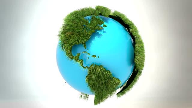 vídeos de stock e filmes b-roll de mundo verde-core azul - green world