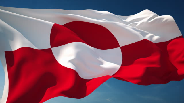 4K Greenland Flag - Loopable video