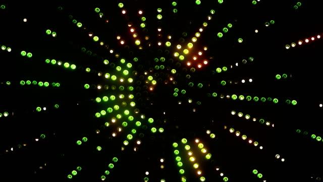 Green-orange animated round led background video