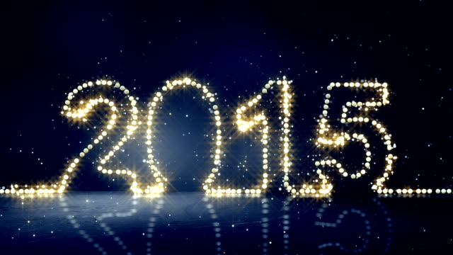 greeting 2015  new year christmas lights loopable video