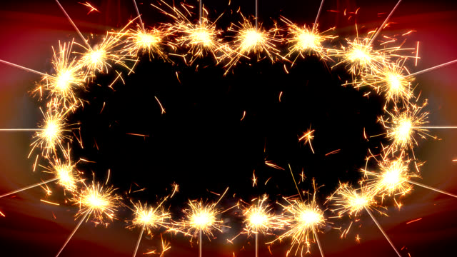Greetings frame of sparklers video