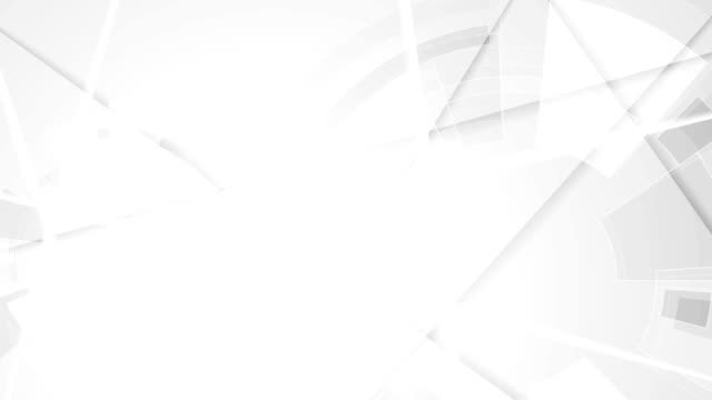 Grey abstract stripes and tech gear video animation video