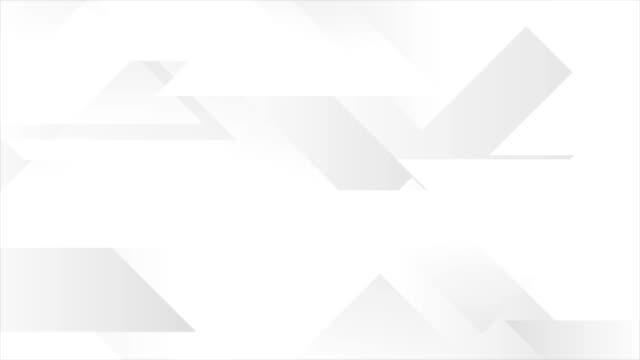 회색 추상 기술 기하학적 비디오 애니메이션 - 배경 초점 스톡 비디오 및 b-롤 화면