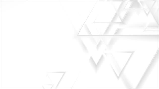 stockvideo's en b-roll-footage met grijze abstracte driehoeken geometrische video animatie - naadloos patroon
