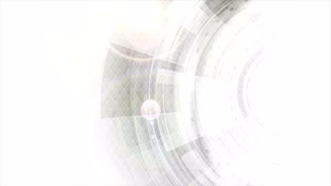 vídeos de stock e filmes b-roll de grey and white futuristic technology video animation - branco